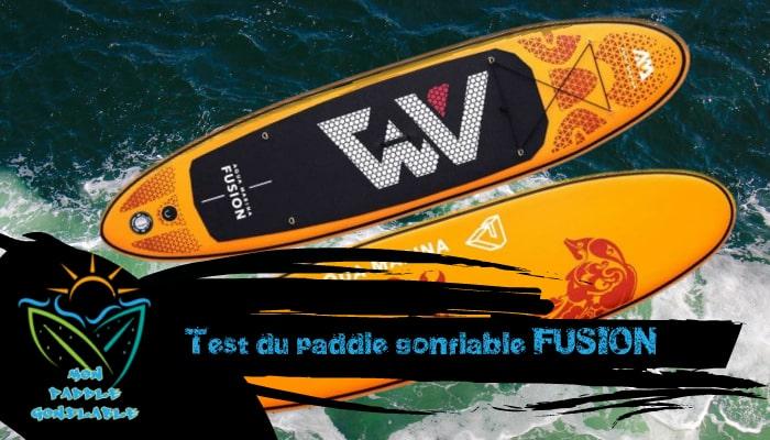 test et avis paddle gonflable pas cher fusion