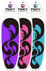 les différentes couleurs du paddle gonflable venice
