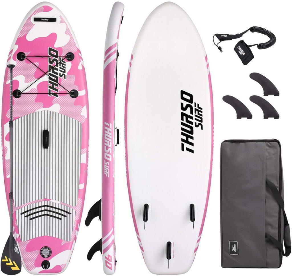 paddle gonflable design rose enfant